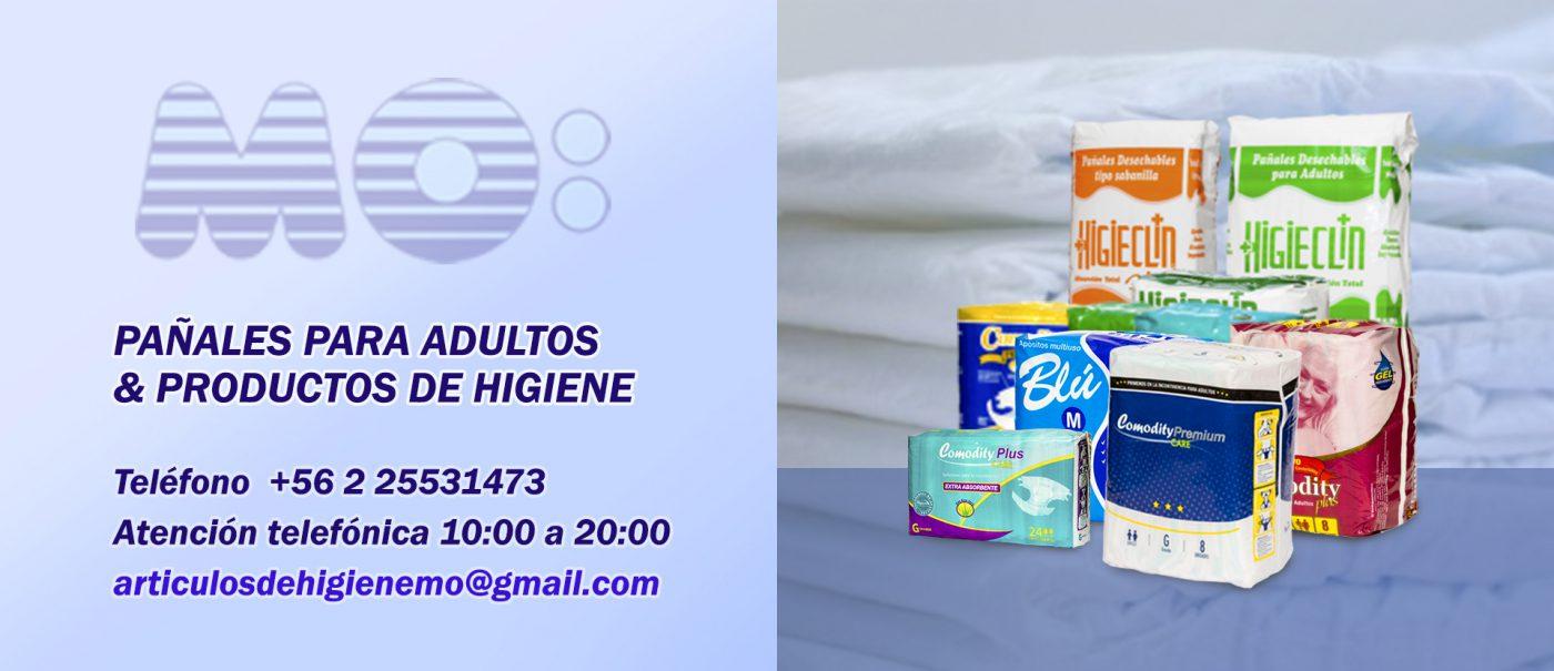 Pañales para adultos y productos de higiene
